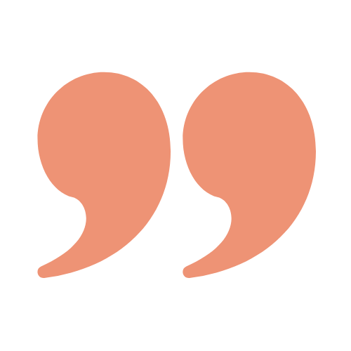 Quote icon in pink